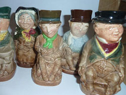 Royal Doulton Dickens Toby Jugs, 1960's