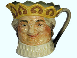 Old King Cole Musical Jug Colour: Yellow Crown, D6014, Designer: Harry Fenton, Issued: 1939-1939, Very Rare & Sought After.