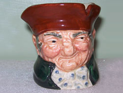 Royal Doulton Old Charlie Tooth Pick Holder, D6152, Designer: Charles Noke, 1939-1960, Very Few Produced. Rare